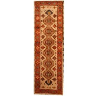 Herat Oriental Indo Hand-knotted Tribal Kazak (2'2 x 6'7)
