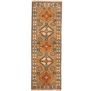 Herat Oriental Indo Hand-knotted Tribal Kazak (2'3 x 6'5)