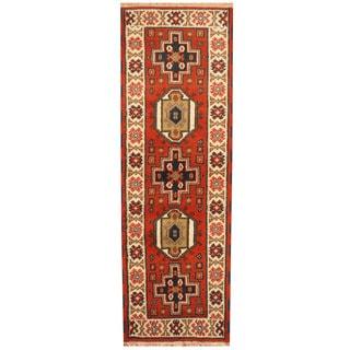 Herat Oriental Indo Hand-knotted Tribal Kazak (2'1 x 6'5)