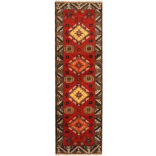 Herat Oriental Indo Hand-knotted Tribal Kazak (2'1 x 6'8)