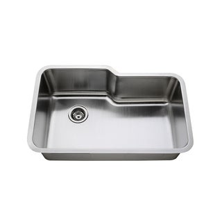 Stainless Steel 16-gauge Double Unequal Sink