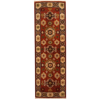 Handmade One-of-a-Kind Kazak Wool Runner (India) - 2'1 x 6'7