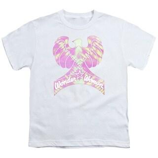 DC/Wonder Bird Short Sleeve Youth 18/1 in White