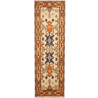 Herat Oriental Indo Hand-knotted Tribal Kazak (2'1 x 6'7)
