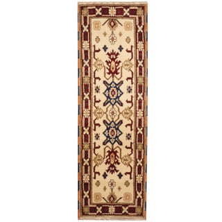 Herat Oriental Indo Hand-knotted Tribal Kazak (2'2 x 6'6)