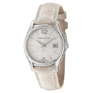 Hamilton Women's White Stainless Steel/Leather Watch