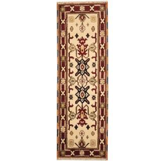 Herat Oriental Indo Hand-knotted Tribal Kazak (2'1 x 6'6)