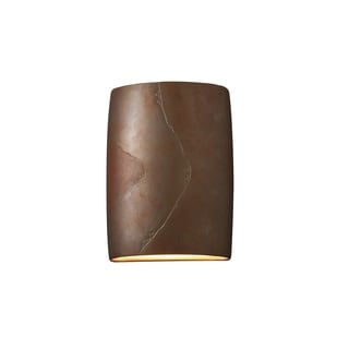 Justice Design Group Ambiance ADA Tierra Red Slate Wall Sconce