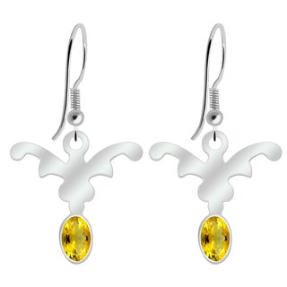 Orchid Jewelry 925 Sterling Silver 0.90 Carat Citrine Earrings
