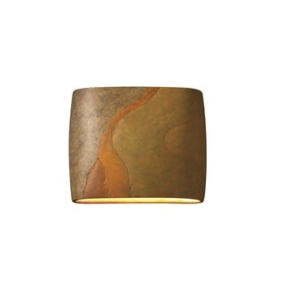 Justice Design Group Ambiance ADA Harvest Yellow Slate Wide Wall Sconce