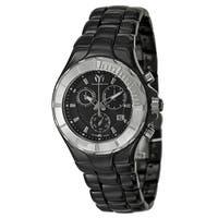 Technomarine Black Stainless Steel/Ceramic Swiss Quartz Watch