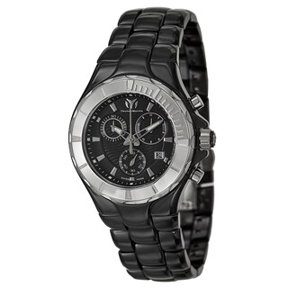 Technomarine Black Stainless Steel/Ceramic Swiss Quartz Watch