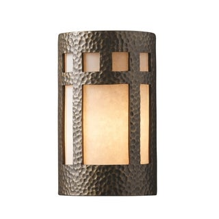 Justice Design Group Ambiance Brass Large Prairie Window Wall Sconce