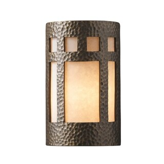 Justice Design Group Ambiance Brass Small Prairie Window Wall Sconce