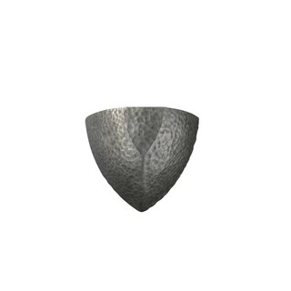 Justice Design Group Ambiance ADA Hammered Pewter Small Ambis Wall Sconce