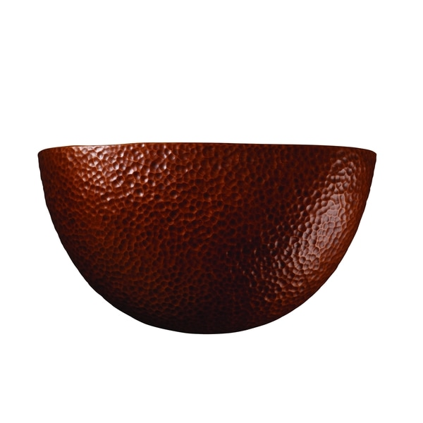 Justice Design Group Ambiance ADA Hammered Copper Pocket Wall Sconce