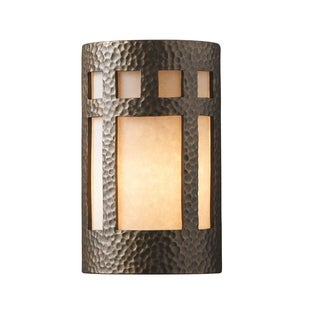 Justice Design Group Ambiance ADA Brass Large Prairie Window Wall Sconce