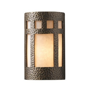 Justice Design Group Ambiance ADA Brass Small Prairie Window Wall Sconce