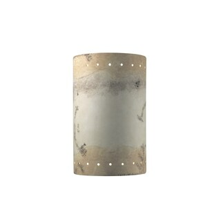 Justice Design Group Ambiance ADA Greco Travertine Large Cylinder Wall Sconce