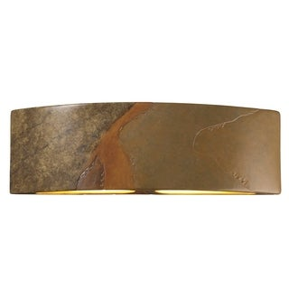 Justice Design Group Ambiance ADA Harvest Yellow Slate Arc Wall Sconce