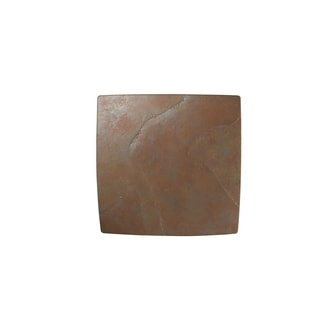 Justice Design Group Ambiance ADA Tierra Red Slate Square Wall Sconce