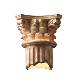 Justice Design Group Ambiance Agate Marble Wall Sconce