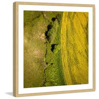 Marmont Hill - 'Green Land' by Karolis Janulis Framed Painting Print - Multi
