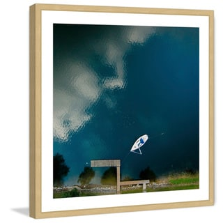 Marmont Hill - 'Lone White Boat' by Karolis Janulis Framed Painting Print