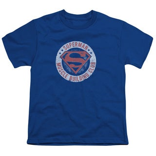 Superman/Muscle Club Short Sleeve Youth 18/1 in Royal