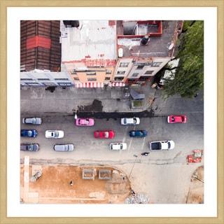 Marmont Hill - 'One Way Street' by Karolis Janulis Framed Painting Print