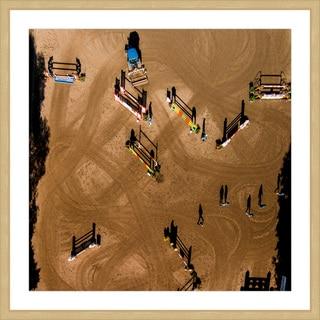 Marmont Hill - 'Hurdles' by Karolis Janulis Framed Painting Print