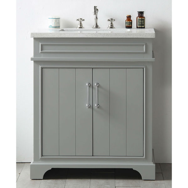 legion furniture grey wood 30 inch vanity sink with quartz