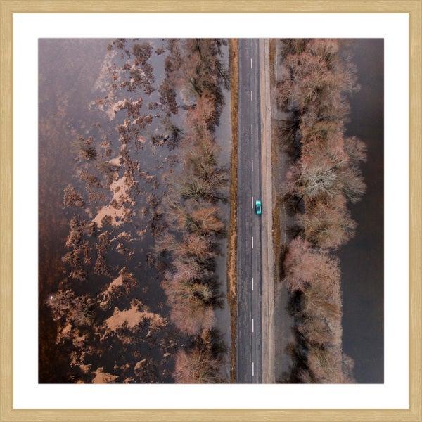 Marmont Hill - 'Lone Car' by Karolis Janulis Framed Painting Print - Multi