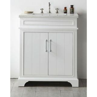 Legion Furniture White  30-inch Quartz-top  Sink Vanity