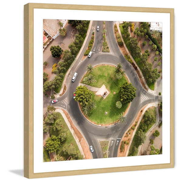 Marmont Hill - 'In a Circle' by Karolis Janulis Framed Painting Print - Multi