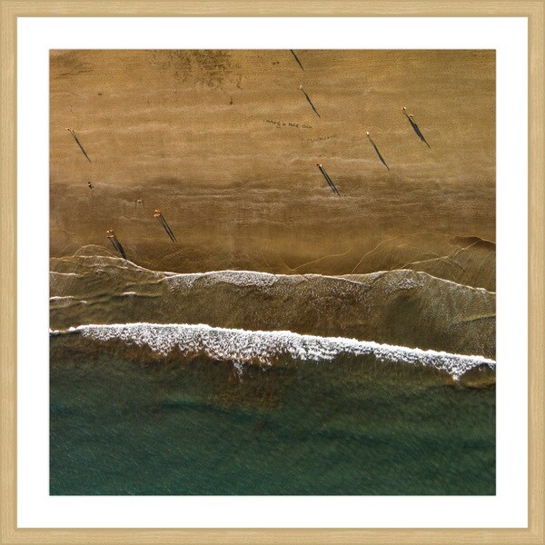 Marmont Hill - 'Foamy Waves' by Karolis Janulis Framed Painting Print - Multi