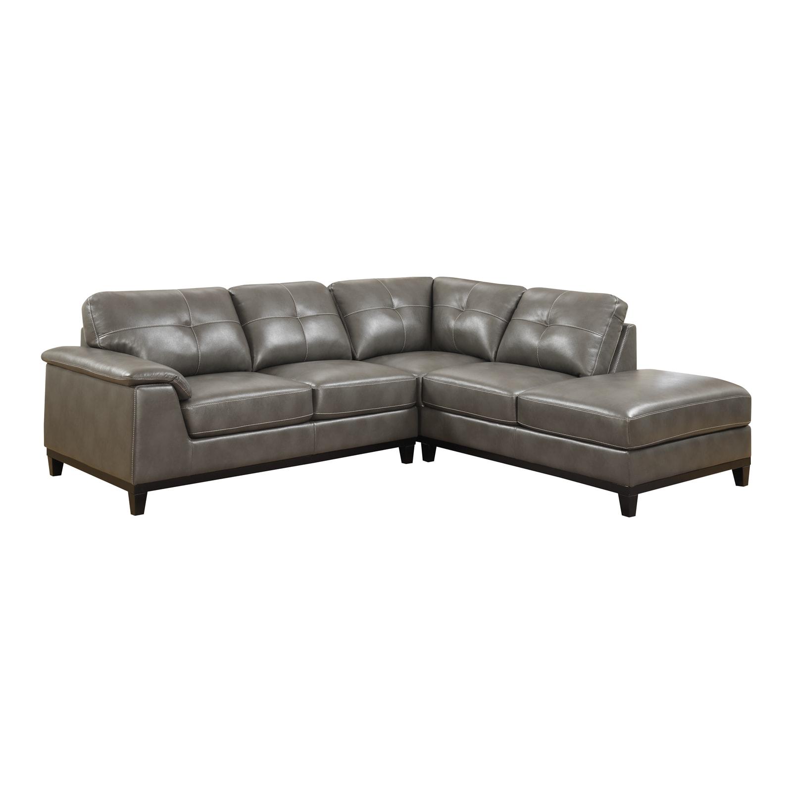 Emerald Marquis Grey 2pc Sectional Sofa (Marquis Grey PU ...