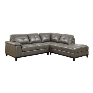 Emerald Marquis Grey 2pc Sectional Sofa