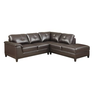 Emerald Marquis Walnut 2pc Sectional Sofa