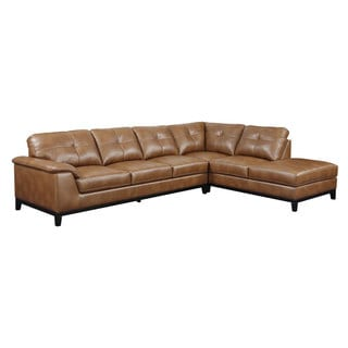 Emerald Marquis Chestnut 2pc Sectional Sofa