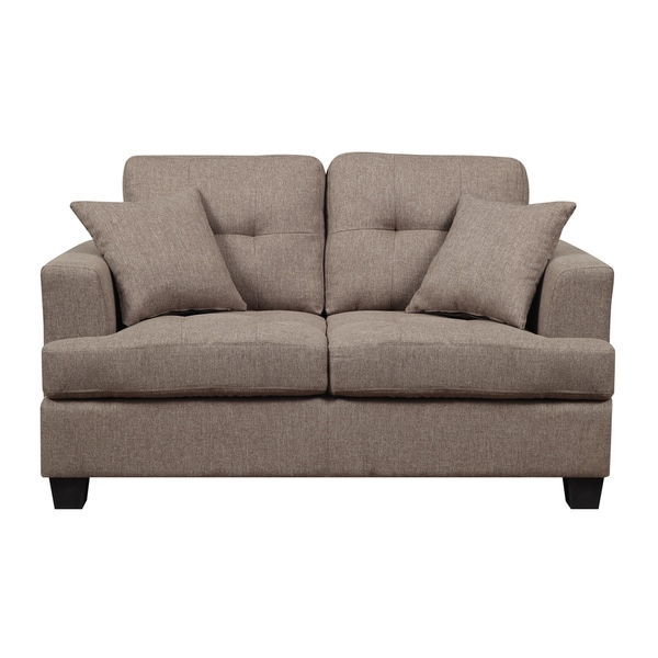 Clearview Brown Microfiber Contemporary Loveseat