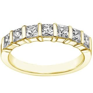 14k/18k Yellow Gold 1 1/4ct TDW U-prong Diamond Anniversary Wedding Ring (G-H, SI1-SI2)