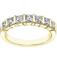 14k/18k Yellow Gold 1 1/4ct TDW U-prong Diamond Anniversary Wedding Ring