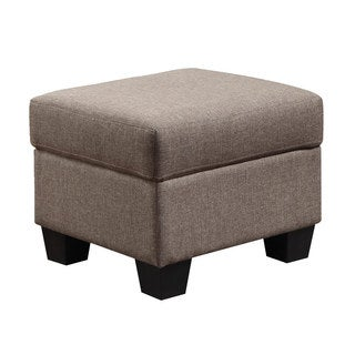 Emerald Clearview Brown Microfiber Contemporary Ottoman