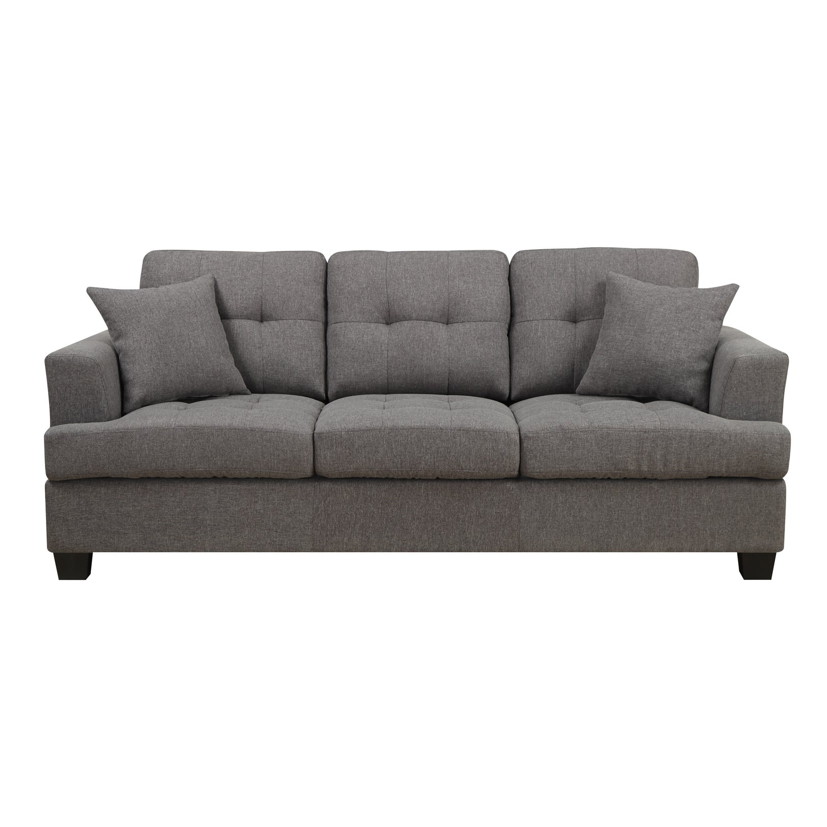 delmar loop westgate grey microfiber contemporary sofa. Black Bedroom Furniture Sets. Home Design Ideas