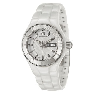 Technomarine Charmex Women's Stainless Steel and Leather Swiss Quartz Watch