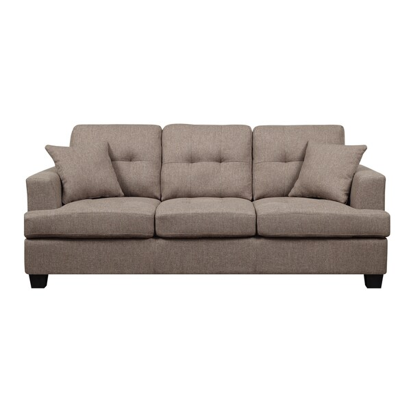 Clearview Brown Microfiber Contemporary Sofa Free Shipping Today 12806095