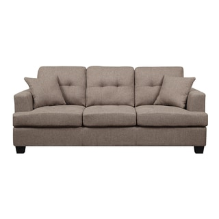 Emerald Clearview Brown Microfiber Contemporary Sofa