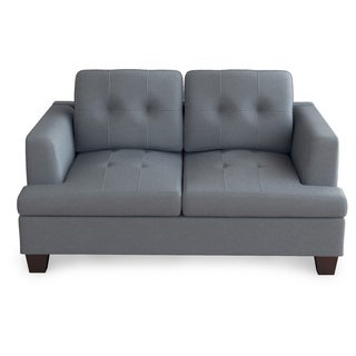 Emerald Clearview Grey Microfiber Contemporary Loveseat