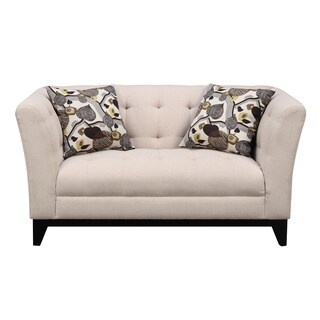 Emerald Marion Cream Transitional Loveseat